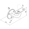 RVS leuningdrager type L WIT RAL 9010