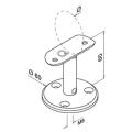 Gebogen RVS trapleuning rond Ø42,4mm inclusief leuningdragers type N MAT ZWART RAL 9005