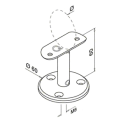 RVS leuningdrager Type N - MAT ZWART RAL 9005