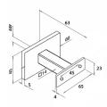 RVS trapleuning vierkant 40x20mm inclusief leuningdragers type T ZWARTGRIJS RAL 7021