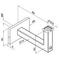RVS leuningdrager type W WIT RAL 9010